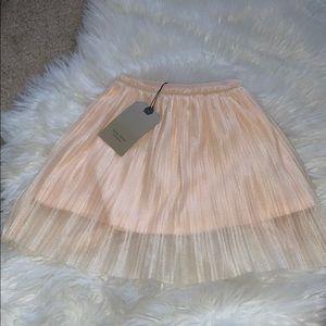 Zara girls pleated skirt